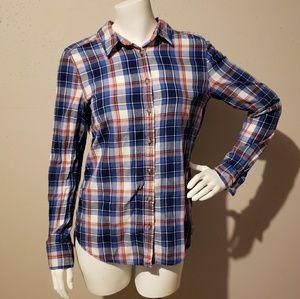 H&M L.O.G.G Women's Shirt Size 6 Blue Plaid